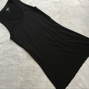 Three Dots Sleeveless Black T-Shirt Tank Dress